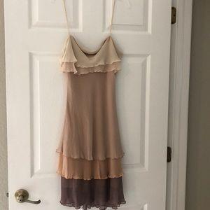DVF tiered slip dress size 8